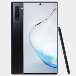 Samsung Galaxy Note 10 Dual Sim 256GB 8GB Ram Aura Black + Husa Flip Cover Book Clear