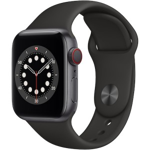 Apple Watch Series 6 40mm GPS+Cellular Space Grey Aluminium Case Sport Black Band